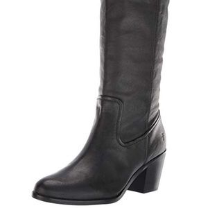 Frye Women's Black Pull On Tall Boots - 9:
